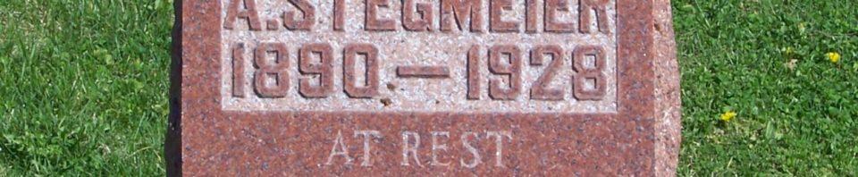 Anna M (Giessler) Stegmeier, Zion Lutheran Cemetery, Schumm, Van Wert County, Ohio. (2012 photo by Karen)