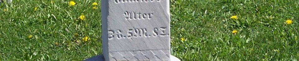 Karl F Schumm, Zion Lutheran Cemetery, Van Wert County, Ohio, d.1893. (2012 photo by Karen)