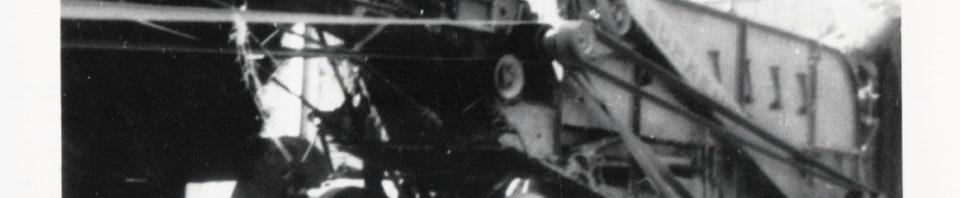 CL Schumm, threshing for RL Stetler, 1951-2.