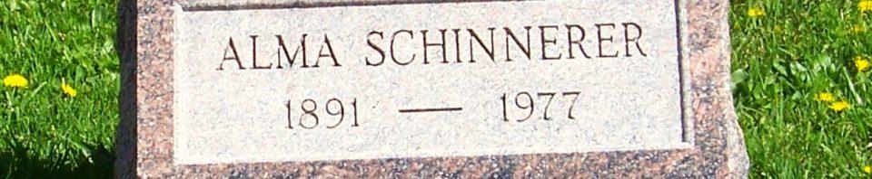 Alma Schinnerer, Zion Lutheran Cemetery, Van Wert County, Ohio. (2012 photo by Karen)