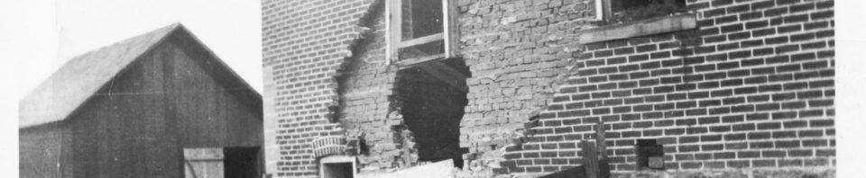 Schumm Parochial School after 20 October 1918 dynamiting.