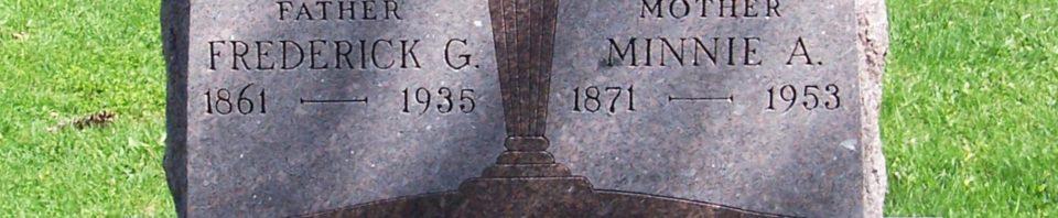 Frederick & Minnie (Roehm) Schinnerer, Zion Lutheran Cemetery, Van Wert County, Ohio. (2012 photo by Karen)