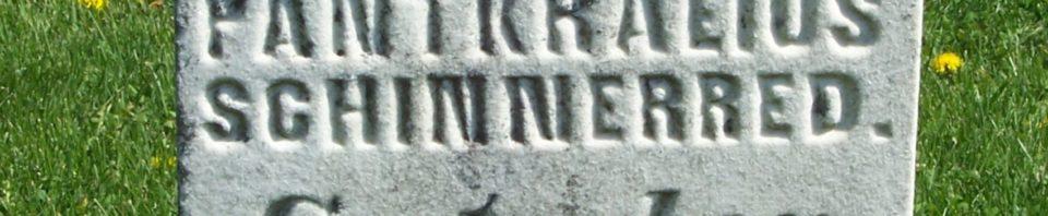 Johann Pankratius Schinnerer, Zion Lutheran Cemetery, Van Wert County, Ohio. (2012 photo by Karen)