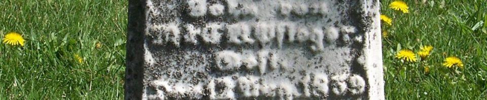 George Martin Pflueger, Zion Lutheran Cemetery, Van Wert County, Ohio. (2012 photo by Karen)