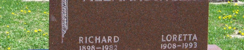 Richard & Loretta (Aumann) Allmandinger, Zion Lutheran Cemetery, Van Wert County, Ohio. (2012 photo by Karen)