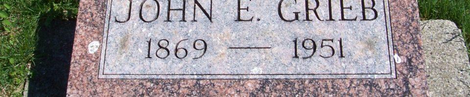 John E Grieb, Zion Lutheran Cemetery, Van Wert County, Ohio. (2012 photo by Karen)