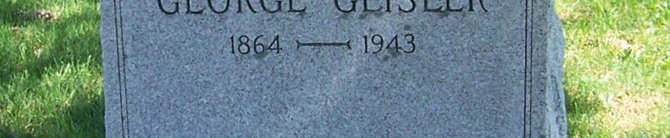 George Geisler, Zion Lutheran Cemetery, Van Wert County, Ohio. (2012 photo by Karen)