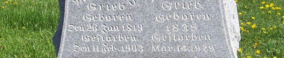 Michael J & Barbara (Geisler) Grieb, Zion Lutheran Cemetery, Van Wert County, Ohio. (2012 photo by Karen)