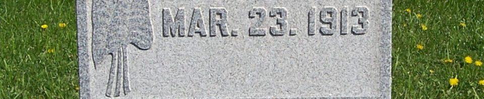 Catherine Geisler, Zion Lutheran Cemetery, Van Wert County, Ohio. (2012 photo by Karen)