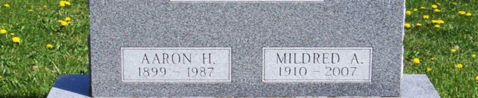 Aaron H. & Mildred A. Buechner, Zion Lutheran Cemetery, Van Wert County, Ohio. (2012 photo by Karen)