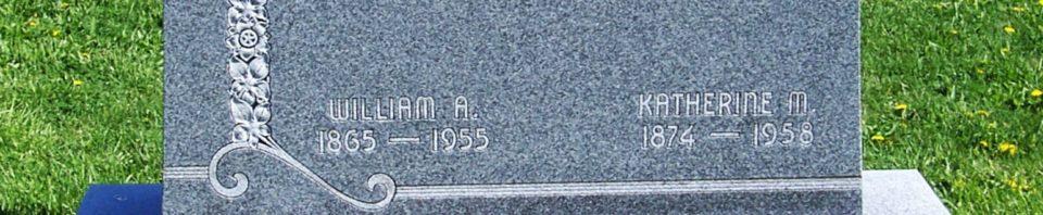 William A. & Katherine M. (Schumm) Buechner, Zion Lutheran Cemetery, Van Wert County, Ohio. (2012 photo by Karen)