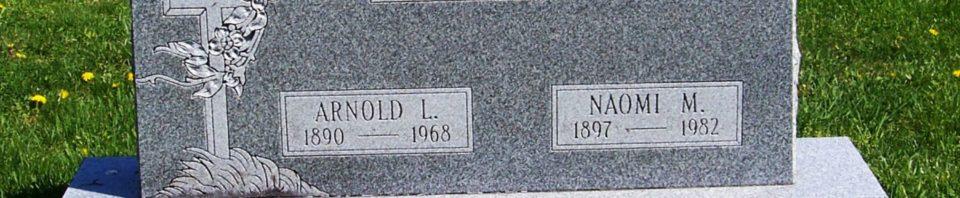 Arnold L & Naomi M (Schumm) Schumm, Zion Lutheran Cemetery, Van Wert County, Ohio. (2012 photo by Karen)