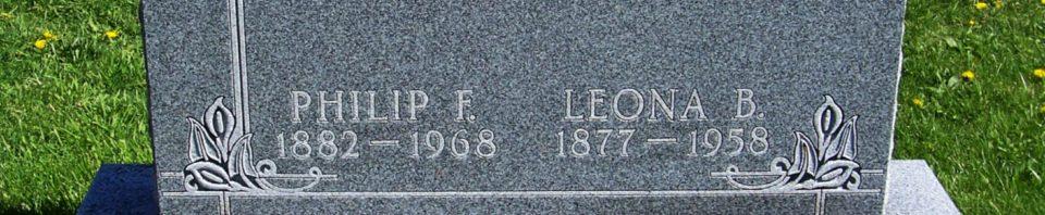 Philip F. & Leona B. Schumm, Zion Lutheran Cemetery, Van Wert County, Ohio. (2012 photo by Karen)