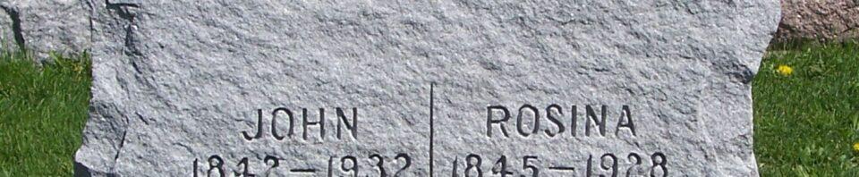 John & Rosina (Schumm) Roehm, Zion Lutheran Cemetery, Van Wert County, Ohio. (2012 photo by Karen)
