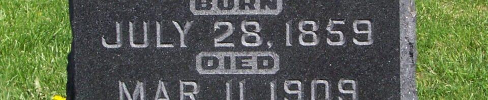 Martin J. Schumm, Zion Lutheran Cemetery, Van Wert County, Ohio. (2012 photo by Karen)