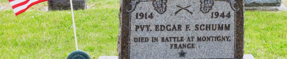 PVT. Edgar F. Schumm, Zion Lutheran Cemetery, Van Wert County, Ohio. (2020 photo by Karen)