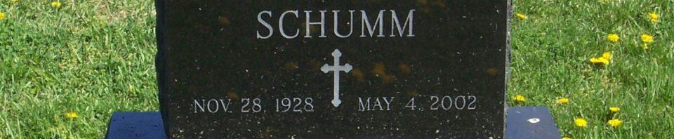 Lois M. Schumm, Zion Lutheran Cemetery, Van Wert County, Ohio. (2012 photo by Karen)