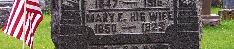 Two broken columns, Woodland Cemetery, Van Wert, Ohio. (2011 photo by Karen)
