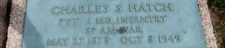 Spanish-American War marker, Charles S Hatch, Willshire Cemetery. (2019 photo by Karen)