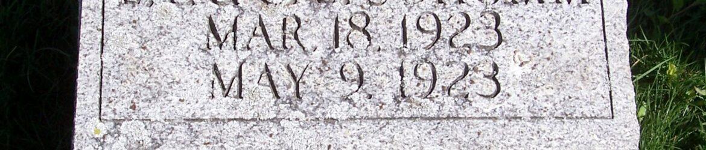 Frederick A Schumm, Zion Lutheran Cemetery, Van Wert County, Ohio. (2012 photo by Kare)