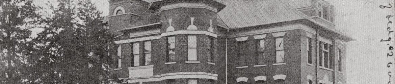 1908 postcard of Willshire Public School, from Russel M.